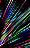 Colorful background. Strips diverge from the bottom to the top. Abstract texture, background. Illustration and decoration. Blue and red, violet and green colors Stock Images