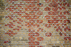 Abstract texture background of old triangle brick wall Royalty Free Stock Photo