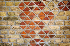 Abstract texture background of old triangle brick wall Stock Photography