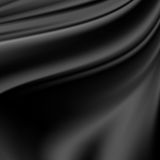 Abstract Texture, Black Silk Royalty Free Stock Photo