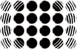 Abstract texture of black and white smooth spherical balls of circles of smooth cut unusual beautiful. The background. Vector vector illustration