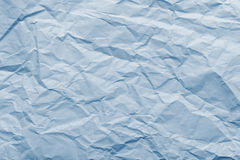 Abstract texture from blue crushed paper Stock Images