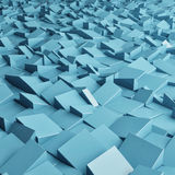 Abstract texture from blue cubes. 3d render Stock Photography
