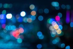 Abstract texture bokeh city lights Stock Images