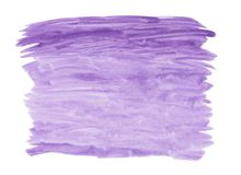 Abstract texture brush ink background purple aquarel watercolor splash hand paint on white background. Abstract texture brush background purple aquarel stock image
