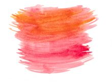 Abstract texture brush ink background aquarel watercolor splash hand paint on white background. Abstract colored texture brush ink background aquarel watercolor stock illustration