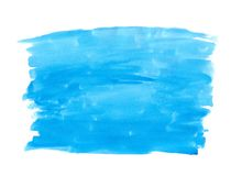 Abstract texture brush ink background blue aquarel watercolor splash paint on white background Stock Image