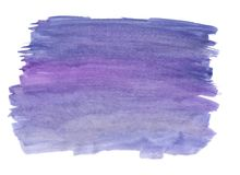 Abstract texture brush ink background purple aquarel watercolor splash hand paint on white background. Abstract texture brush background purple aquarel stock photo