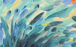 Abstract texture of brush strokes. Oil Painting. Abstract texture of large brush strokes and colorful stripes of oil paint. Bright colors Royalty Free Stock Image
