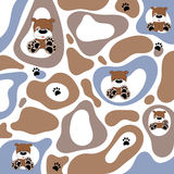 Abstract texture with cartoon puppy Royalty Free Stock Image