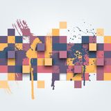 Abstract texture with colorful squares Stock Images
