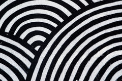 Abstract texture, concentric black and white circles. As background Royalty Free Stock Photography