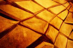 Abstract texture of cracked yellow wall Stock Photography