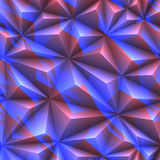 Abstract texture of crystals. Blue and red colors Stock Image