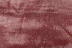 Abstract texture fabric of dark red color Royalty Free Stock Image