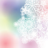 Abstract texture face background. Human face shape could see through the shape form by white flower texture with colorful background Royalty Free Stock Image