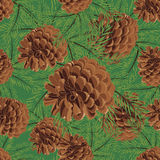 Abstract texture with fir-cone. Seamless pattern with Christmas tree ornament Royalty Free Stock Photography