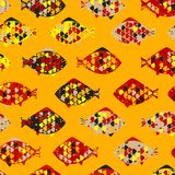 Abstract texture with fishes. Vector Royalty Free Stock Photo