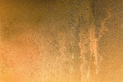 Abstract texture frozen water drops of golden color Stock Photography