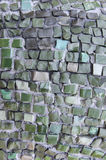 Abstract texture of the glass rod and smalt mosaics Stock Image