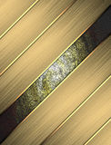 Abstract texture of gold bars. Template for design. copy space for ad brochure or announcement invitation.  Stock Photography