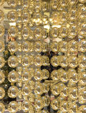 Abstract texture of gold metal balls.  Royalty Free Stock Photos