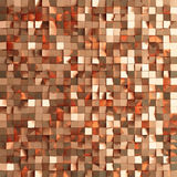Abstract texture from golden cubes. 3d render Royalty Free Stock Image