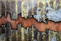 Abstract texture of grungy weathered metal Royalty Free Stock Photography