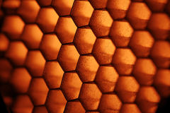 Abstract texture honeycomb Stock Photography