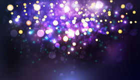 Abstract texture, light bokeh vector background Stock Photography