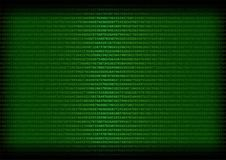 Texture of Numbers on Gren Background. Abstract texture made of numbers, on a dark green background Stock Images