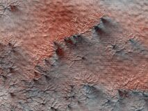Abstract texture on Mars Royalty Free Stock Photo