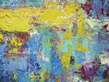 Abstract texture oil painting on canvas. Abstract texture oil painting handmade on canvas for background royalty free illustration