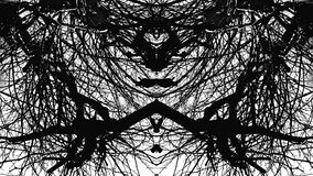 Abstract texture psychedelic black and white Stock Images