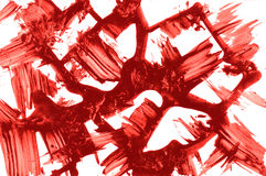 Abstract texture. Red ink strokes Stock Photos