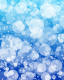 Abstract Circles Blur. An abstract texture resembling falling snow or rain out of focus Stock Photo