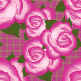 Abstract texture with roses. Seamless pattern with festive flower bouquet ornament. Abstract texture with pink roses. Seamless pattern with festive flower Royalty Free Stock Photo