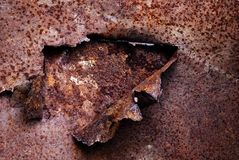 Abstract texture of rusty metal Stock Photography