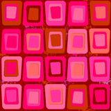 Abstract texture of square shapes in Sixties style Stock Image