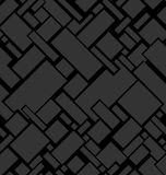 Abstract texture from squares. In gray colors a seamless pattern on a black background Stock Images