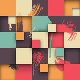 Abstract Texture with Squares and Paint Splashes Royalty Free Stock Photography
