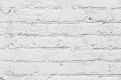 Abstract texture of white painted brick wall stock photo