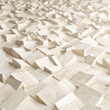 Abstract texture from wooden cubes. 3d render Stock Images