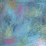 Abstract textured acrylic and oil pastel hand painted background Stock Image