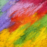 Abstract textured acrylic and oil pastel painted background Stock Images