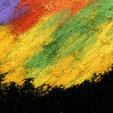 Abstract textured acrylic and oil pastel painted background Royalty Free Stock Images