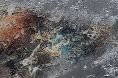 Abstract textured background - grungy metal close up Royalty Free Stock Photos