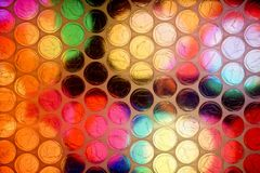 Abstract close up bubble wrap sheet with colorful background royalty free stock photo