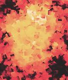 Abstract textured background in red, yellow and black Stock Photos