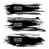Abstract textured big long strokes of black ink Royalty Free Stock Image